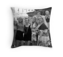 Cuties at the Fountain in Cincinnati Throw Pillow