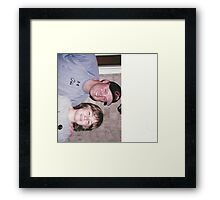 Isaac and Michael Cuddyer from the minnesota twins Framed Print