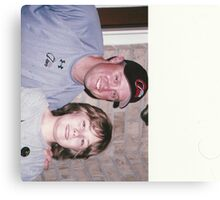 Isaac and Michael Cuddyer from the minnesota twins Canvas Print