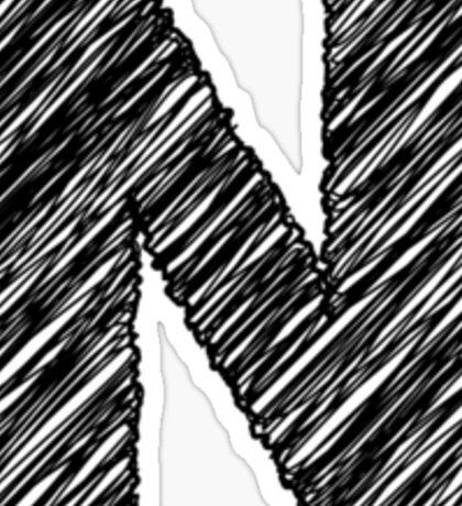 Sketchy Letter Series - Letter N Sticker