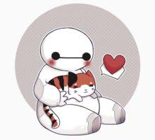 Chibi Baymax and Mochi - Grey version One Piece - Long Sleeve
