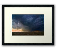 Storm over Nebraska Framed Print