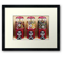 Gumball Machines Framed Print