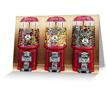 Gumball Machines Greeting Card