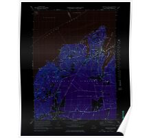 Massachusetts  USGS Historical Topo Map MA Vineyard Haven 351380 1972 25000 Inverted Poster
