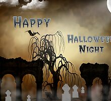 Happy Halloween Night Card by Photography by TJ Baccari