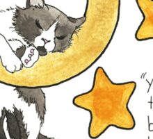 Moon and Stars Cat Sticker