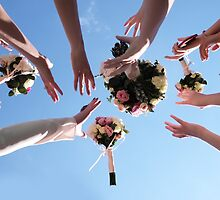 Wedding bouquets planted on the sky by Tverdokhlib
