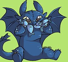 Toothless Chibi by linai