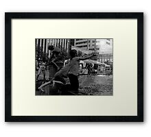 Children at the Fountain Framed Print