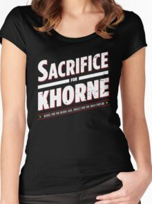Sacrifice for Khorne - Damaged Women's Fitted Scoop T-Shirt