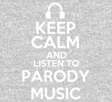 Keep calm and listen to Parody music Kids Clothes