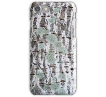 Bark With Lichen and Sapsucker Holes iPhone Case/Skin
