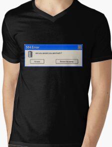 504 Error... Mens V-Neck T-Shirt