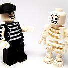 Mr.Mime & Skeleton by HRLambert