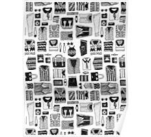 Travel Essentials Pattern Poster