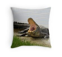 Boring and yawning Throw Pillow