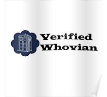 Verified Whovian Poster