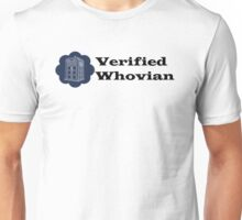 Verified Whovian Unisex T-Shirt