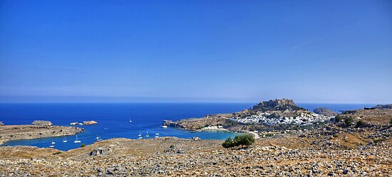 Lindos Panorama by Tom Gomez
