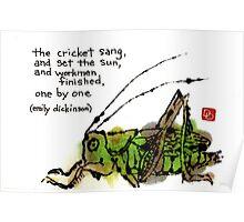 Singing Cricket Poster