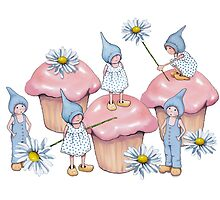 Pink Cupcakes, Gnomes, and Daisies: Fantasy Art by Joyce Geleynse