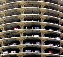 Marina City Parking Deck Chicago IL USA by Jonathan  Green