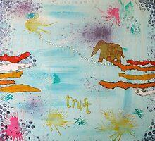 """""""Trust"""" mixed media artwork by Nolwenn"""