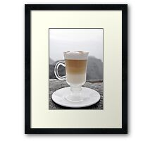 Layered Latte Framed Print