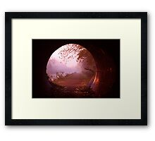 Through the Tunnel - A Hobbits View Framed Print