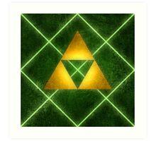 Triforce Pattern Art Print