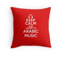 Keep calm and listen to Arabic music Throw Pillow