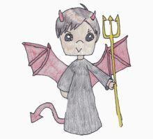 bad little boy halloween t-shirt by Loretta Marvin
