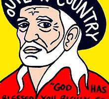 Willie Nelson Country Pop Folk Art by krusefolkart