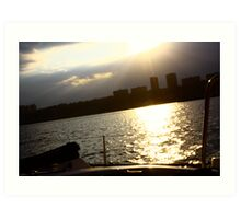 view from a sloop. Art Print