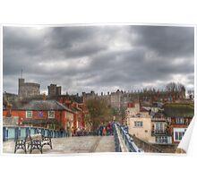 Windsor Castle from Eton Bridge Poster