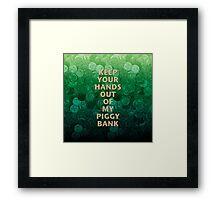 Private Property Piggy Bank Framed Print