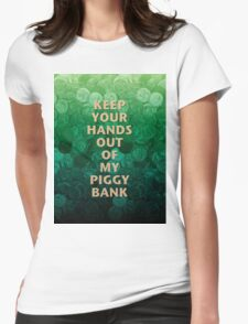 Private Property Piggy Bank Womens Fitted T-Shirt
