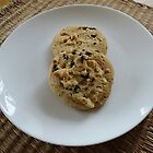 White Chocolate and Blueberry Luxury Cookies by MidnightMelody