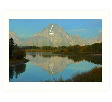 Sunrise On Moran Peak Art Print