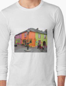 Bright coloured Kinsale Street - County Cork Ireland Long Sleeve T-Shirt