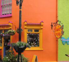 Bright coloured Kinsale Street - County Cork Ireland Sticker
