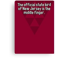 The official state bird of New Jersey is the middle finger. Canvas Print