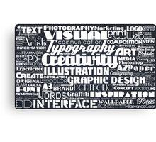 Typo Canvas Print