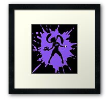 Splat Girl - Purple Framed Print