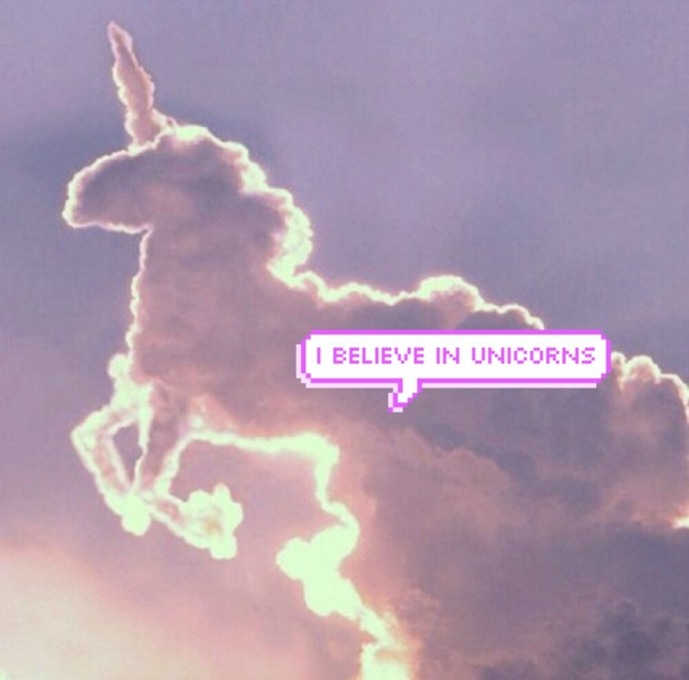 Wall stickers unicorn - Quot I Believe In Unicorns Tumblr Clouds Quot By Annlovely
