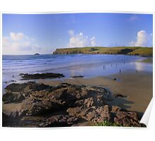 Cornwall: Polzeath Beach Poster
