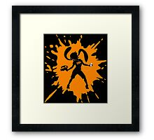 Splat Girl - Orange Framed Print