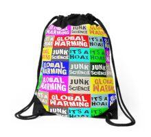 Global Warming Hoax Drawstring Bag