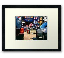 e-z out parking, chicago cubs Framed Print